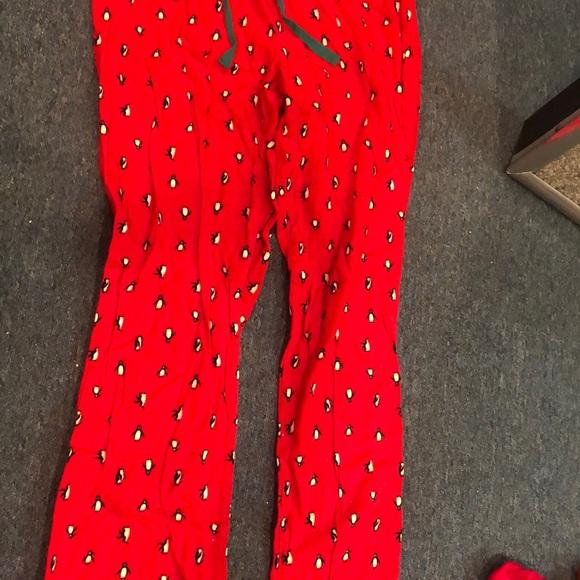 Christmas Pajama Pants.Penguin Christmas Pajama Pants
